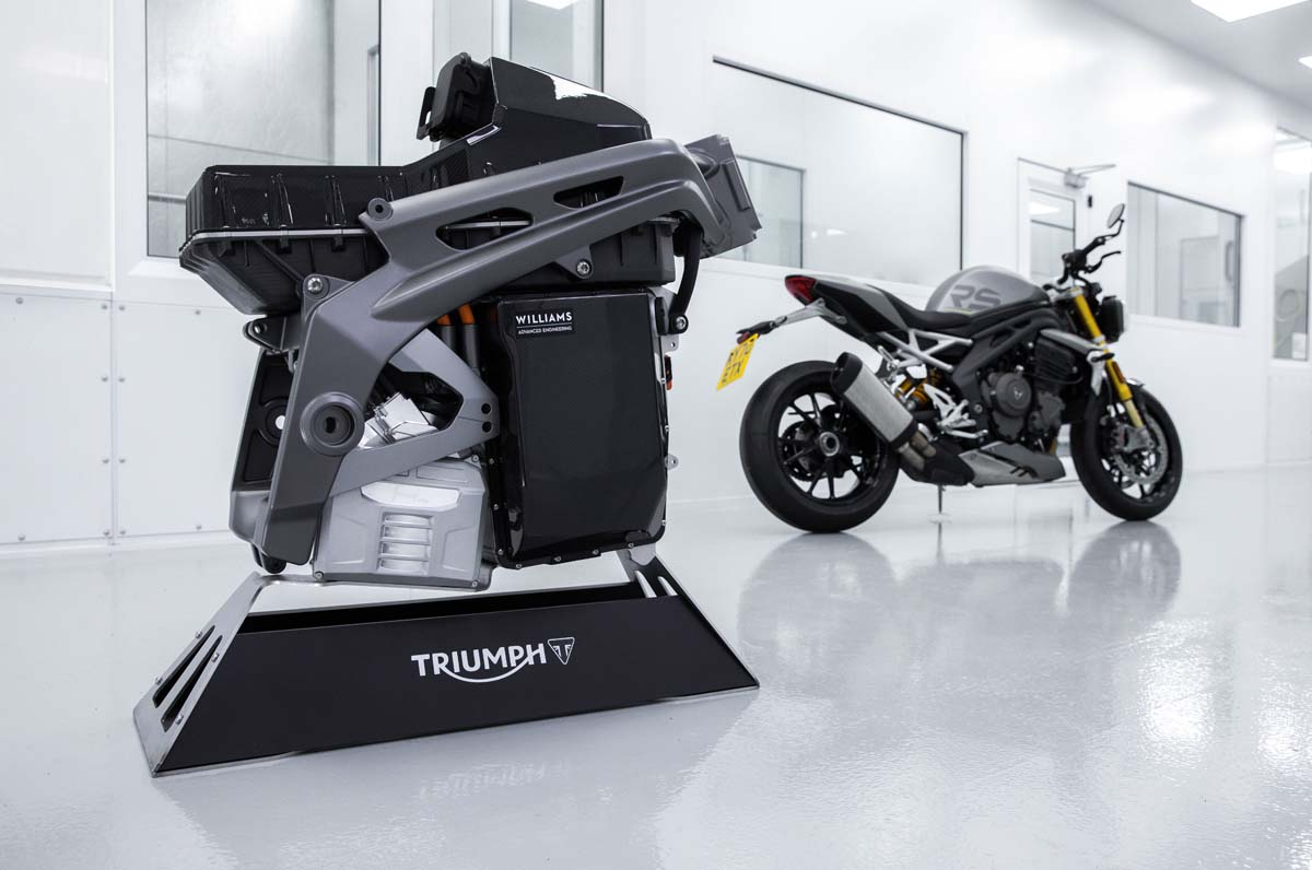 Triumph previews 'TE-1' electric motorcycle