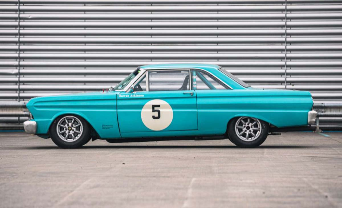 Rowan Atkinson's racing Falcon going to auction