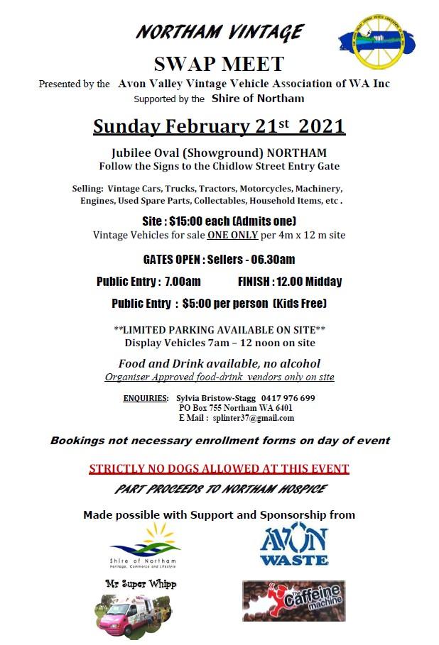 2021 Northam Vintage Swap Meet