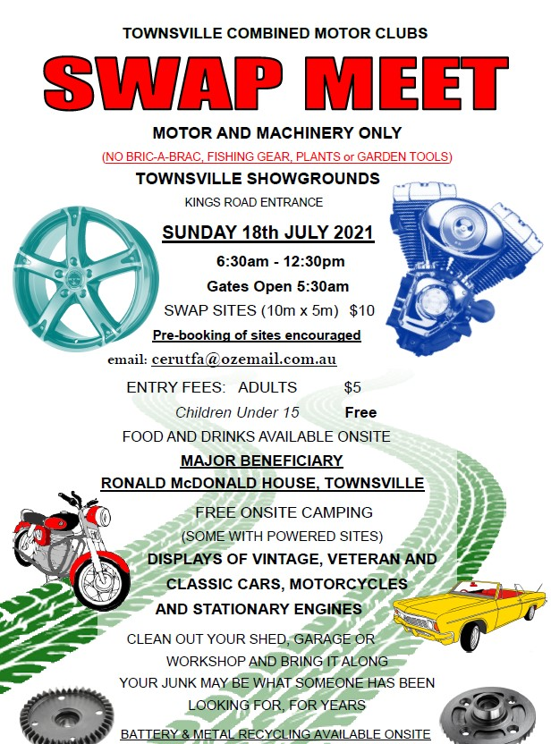 2021 TOWNSVILLE COMBINED MOTOR CLUBS SWAP MEET