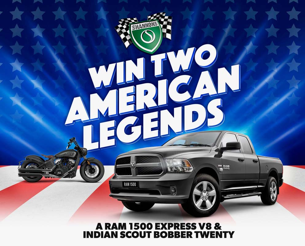 Win a RAM pickup truck with Shannons
