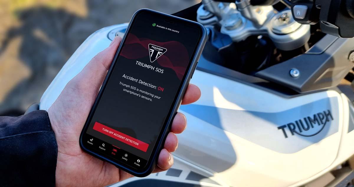 Triumph launches 'SOS' emergency alert app