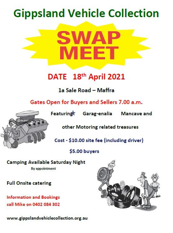 Gippsland Vehicle swap meet