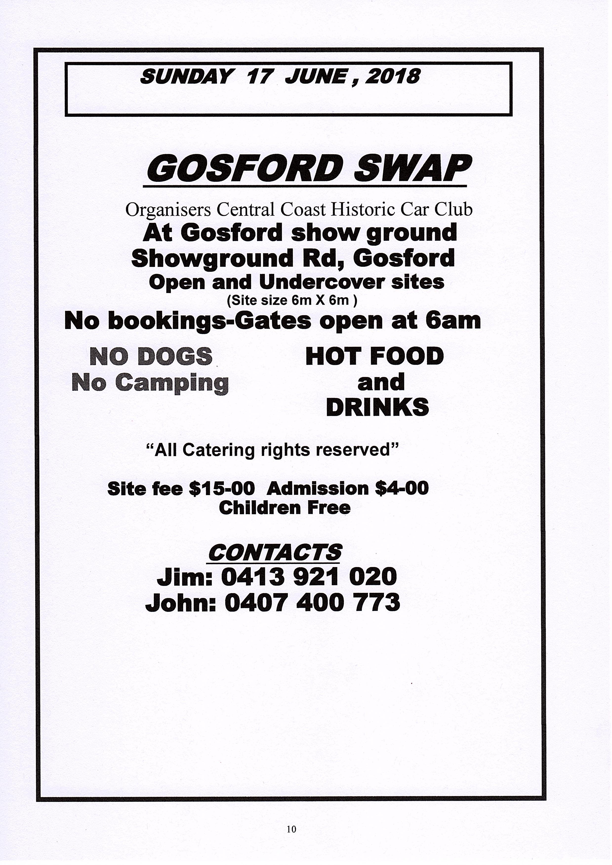 gosford swap