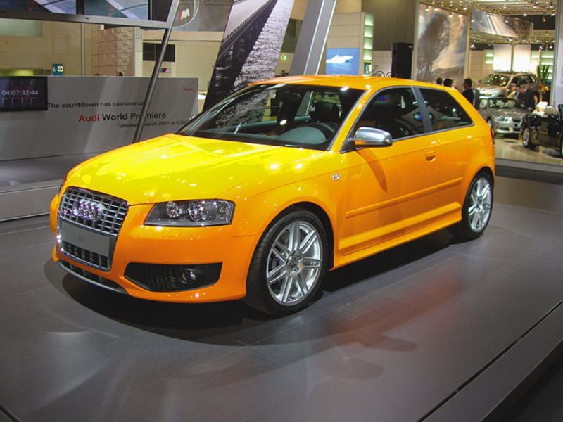 Yellow 2007 Audi S3 two door