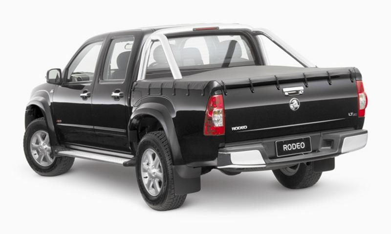 Rear view of a Black 2007 Holden Rodeo LTZ
