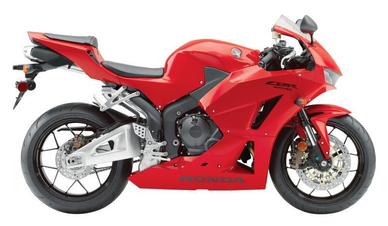 Red 2013 Honda CBR 600RR side view