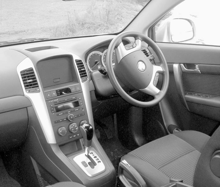 Interior view of the Captiva Diesel