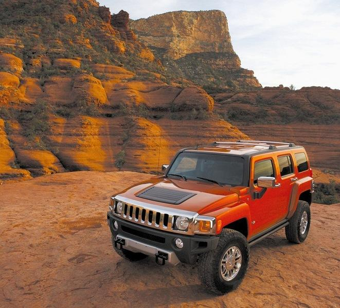 Red 2008 Hummer H3