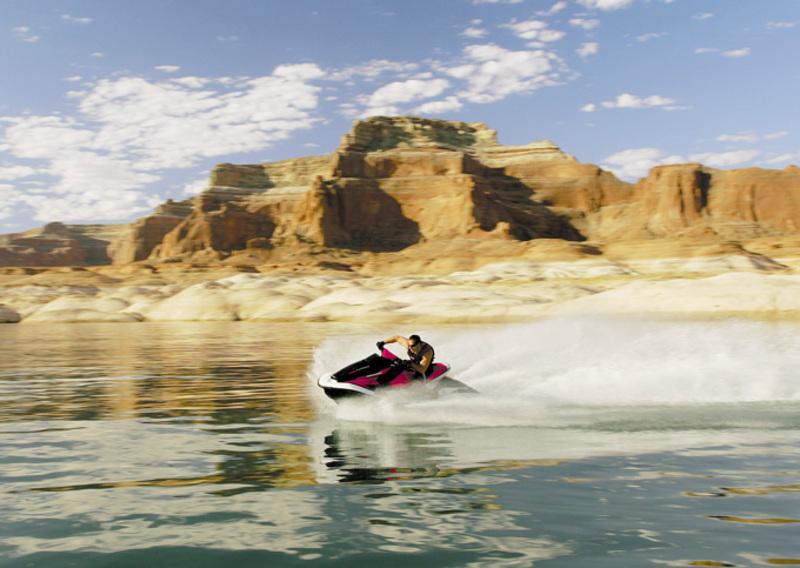 Honda AquaTrax speeding across the water