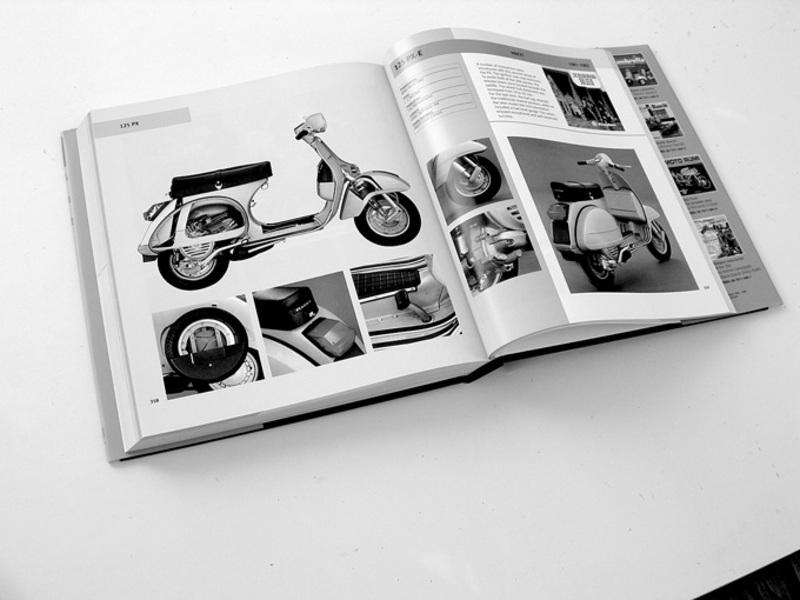 internal pages of the book 60 years of Vespa by Giorgio Sarti