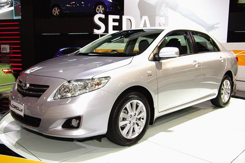 Silver 2007 Toyota Corolla at the Melbourne Motor Show
