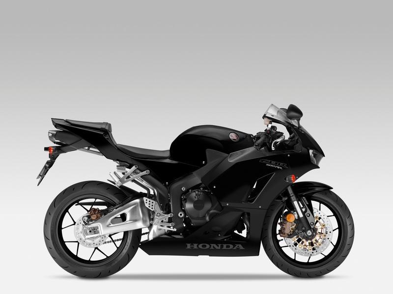Black 2013 Honda CBR 600RR side view