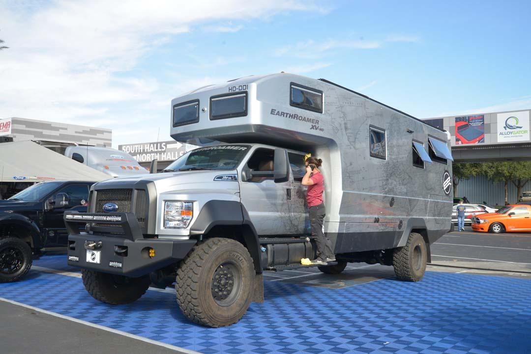 This F-750-based 4x4 was dubbed the 'Earth Roamer XV-HD'. Powered by a 6.7-litre Power Stroke diesel, this motorhome was designed to carry up to six people in comfort and carried just about everything you'd need. At US1.5 million, it'd want to carry everything you need!